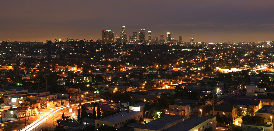 Panorama nocturne de Los Angeles