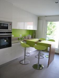 D coration misez tout sur la cuisine for Meuble cuisine vert pomme