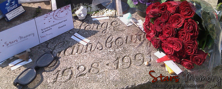 Hommages à Serge Gainsbourg sur sa tombe